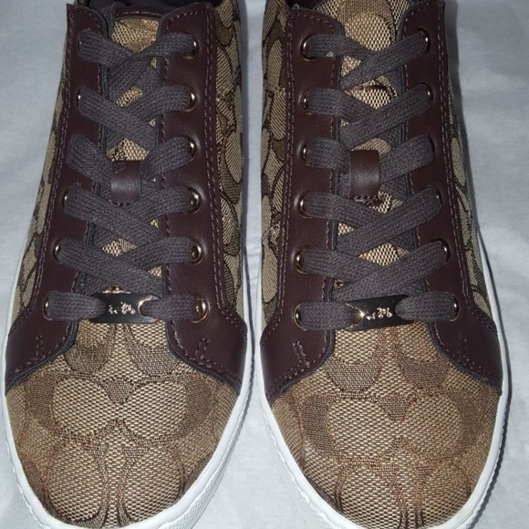 36419997ca5 Coach Shoes - Coach Paddy Sneaker Signature C   Leather